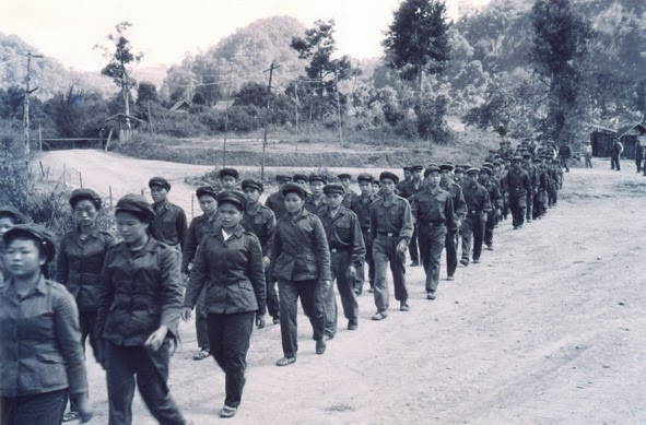 Young women and men defended Viengxay Photo_KPL